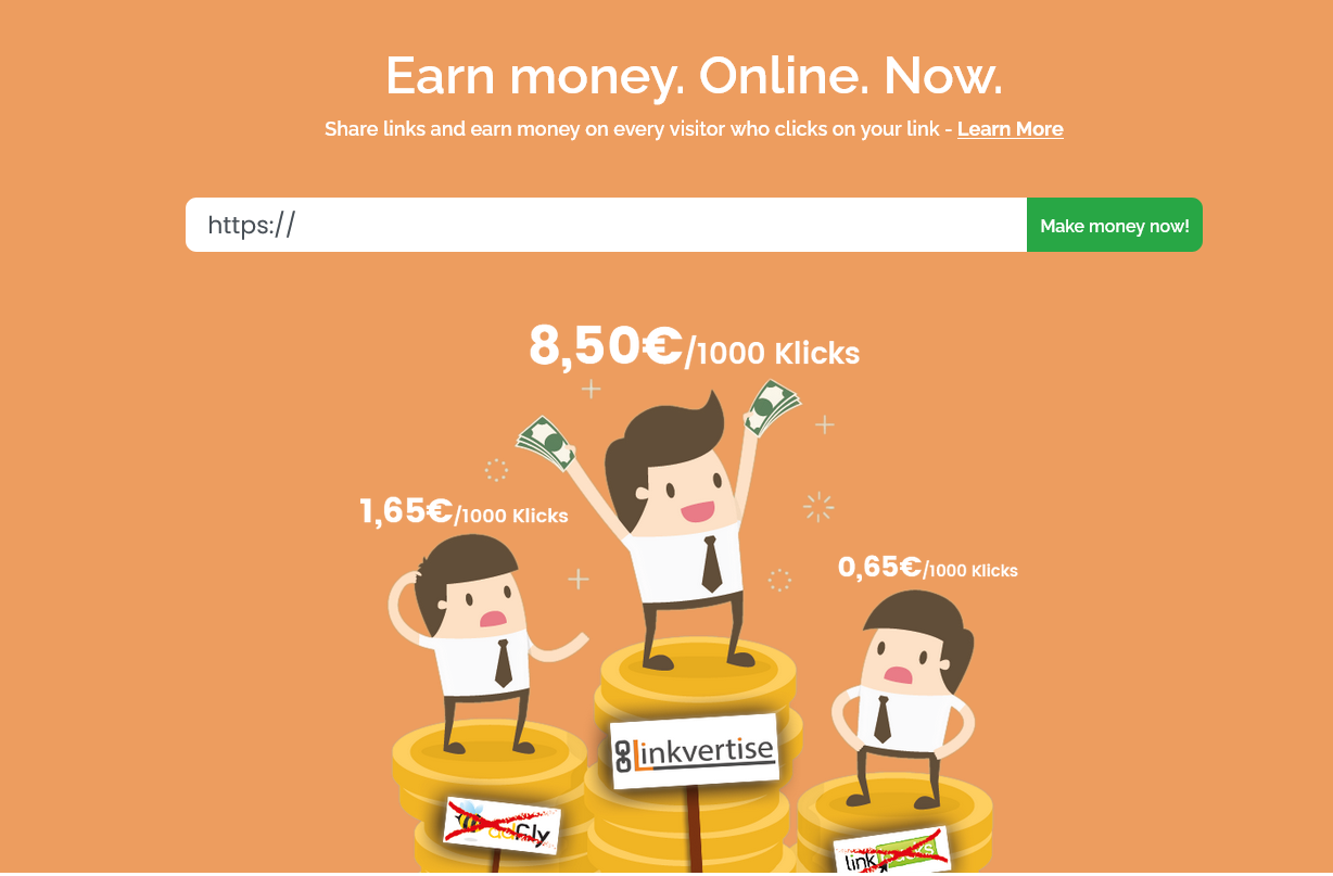 earn money online with the highest paying url shortener service