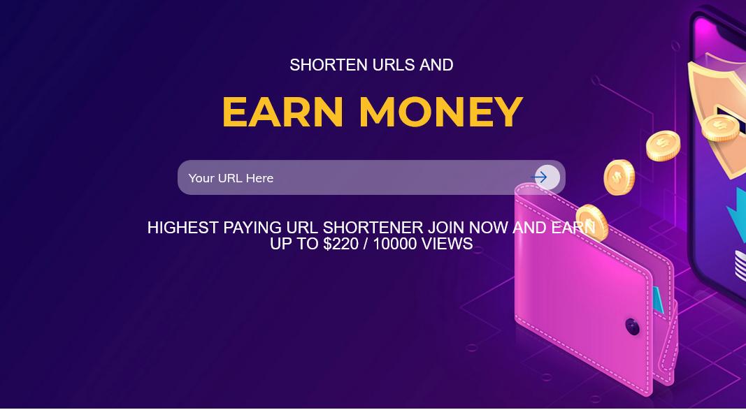 earn money with link shortening